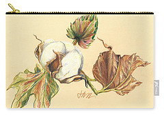 Colored Pencil Cotton Plant Carry-all Pouch