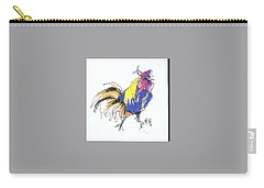 Colored Rooster Carry-all Pouch