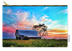 Colored Sunrise Carry-all Pouch