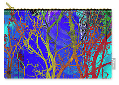 Carry-all Pouch featuring the photograph Colored Tree Branches by Susan Stone