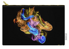Carry-all Pouch featuring the photograph Colored Vapors by Rikk Flohr
