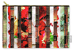 Colored Windows Carry-all Pouch by Paula Ayers