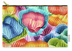 Colorful Abstract Flower Petals Carry-all Pouch