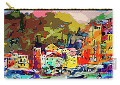 Colorful Abstract Italy Portofino Impression Carry-all Pouch