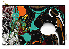 Colorful Abstract Carry-all Pouch by Jessica Wright