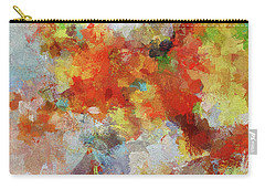 Carry-all Pouch featuring the painting Colorful Abstract Landscape Painting by Ayse Deniz