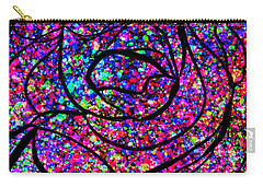 Carry-all Pouch featuring the digital art Colorful Abstract Rose  by Cristina Stefan