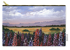 Carry-all Pouch featuring the painting Colorful Afternoon by Anastasiya Malakhova