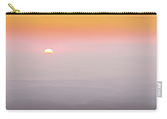 Colorful And Smoky Carolina Sunrise Carry-all Pouch by Serge Skiba