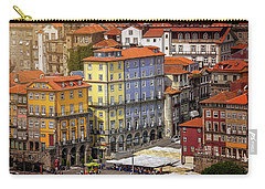 Colorful Architecture Of Ribeira Porto  Carry-all Pouch