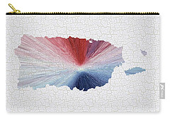 Colorful Art Puerto Rico Map Blue Red And White Carry-all Pouch