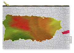 Colorful Art Puerto Rico Map Carry-all Pouch