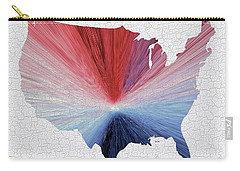 Colorful Art Usa Map Blue, Red And White Carry-all Pouch