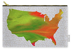 Colorful Art Usa Map Carry-all Pouch