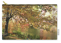 Colorful Autumn Under Glass Carry-all Pouch