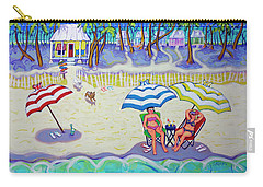 Colorful Beach Hideaway Carry-all Pouch
