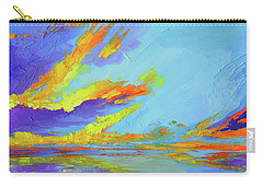 Colorful Beach Sunset Oil Painting  Carry-all Pouch
