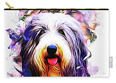 Colorful Bearded Collie Carry-all Pouch