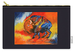 Colorful Bison Carry-all Pouch