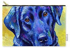 Colorful Black Labrador Retriever Dog Carry-all Pouch