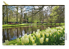 Carry-all Pouch featuring the photograph Colorful Blooming Tulips by Hans Engbers