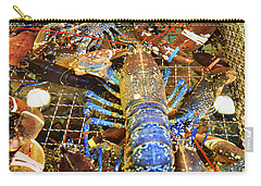 Colorful Blue Lobster Carry-all Pouch by Allan Levin