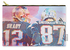 Carry-all Pouch featuring the painting Colorful Brady And Gronkowski by Dan Sproul