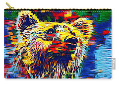 Colorful Brown Bear Carry-all Pouch