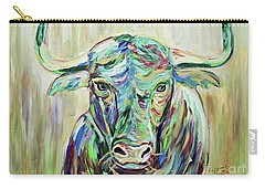 Colorful Bull Carry-all Pouch by Jeanne Forsythe