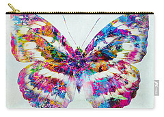 Colorful Butterfly Art Carry-all Pouch by Olga Hamilton