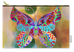 Colorful Butterfy Abstract Painting Carry-all Pouch
