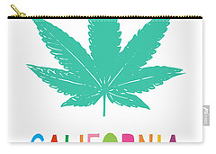 Colorful California Cannabis- Art By Linda Woods Carry-all Pouch