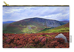 Carry-all Pouch featuring the photograph Colorful Carpet Of Wicklow Hills by Jenny Rainbow