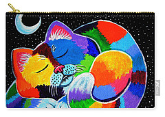 Colorful Cat In The Moonlight Carry-all Pouch
