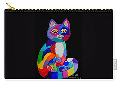 Colorful Cats And Kittens Carry-all Pouch