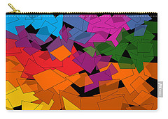 Colorful Chaos Two Carry-all Pouch by Val Arie