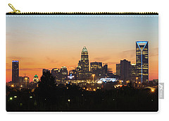 Colorful Charlotte, North Carolina Carry-all Pouch by Serge Skiba