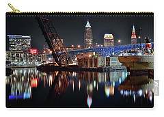 Carry-all Pouch featuring the photograph Colorful Cleveland Flats by Frozen in Time Fine Art Photography