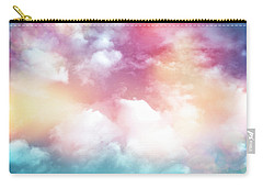 Colorful Clouds With Lens Flare Carry-all Pouch