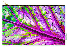 Colorful Coleus Abstract 2 Carry-all Pouch
