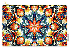 Colorful Concentric Motif Carry-all Pouch