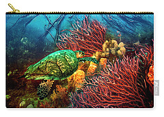 Carry-all Pouch featuring the photograph Colorful Coral Seas by Debra and Dave Vanderlaan