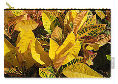 Colorful Crotons Carry-all Pouch by Kenneth Albin
