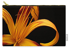 Carry-all Pouch featuring the photograph Colorful Curls by Judy Vincent