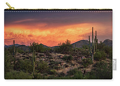 Carry-all Pouch featuring the photograph Colorful Desert Skies At Sunset  by Saija Lehtonen