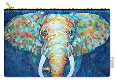 Colorful Elephant Carry-all Pouch