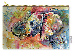 Colorful Elephant II Carry-all Pouch