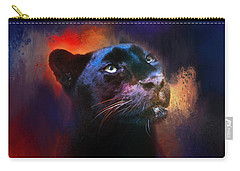 Colorful Expressions Black Leopard Carry-all Pouch by Jai Johnson