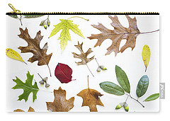 Colorful Fall Leaves Carry-all Pouch by Elena Nosyreva