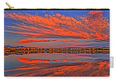 Carry-all Pouch featuring the photograph Colorful Fall Morning by Scott Mahon